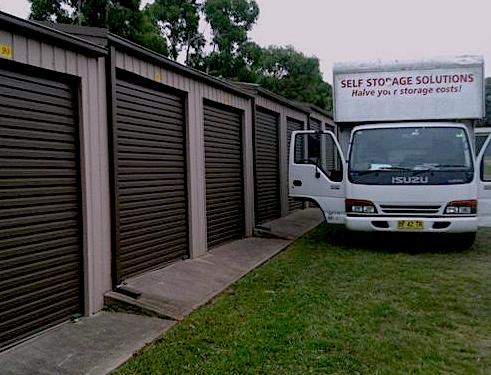 Self storage solutions truck and units