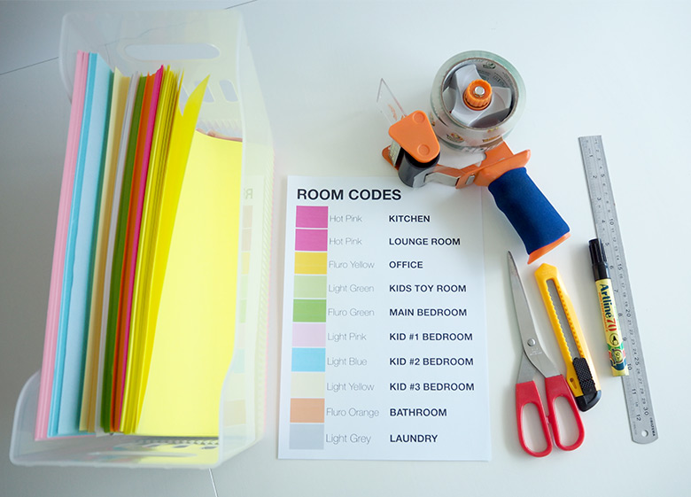colour coding packing